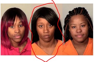 Diamond Reynolds is in the middle...