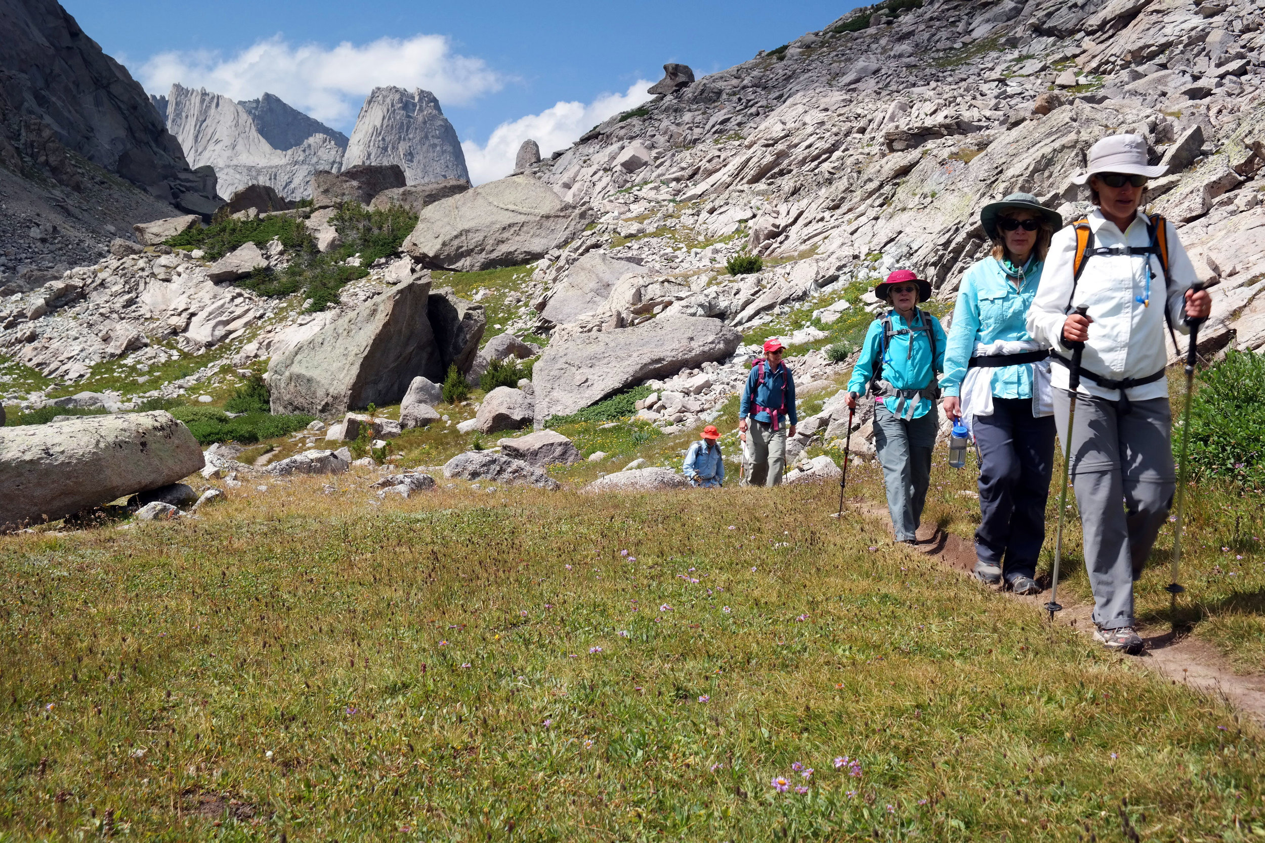 Walking down from Jackass Pass, Wind River Range, Wyoming