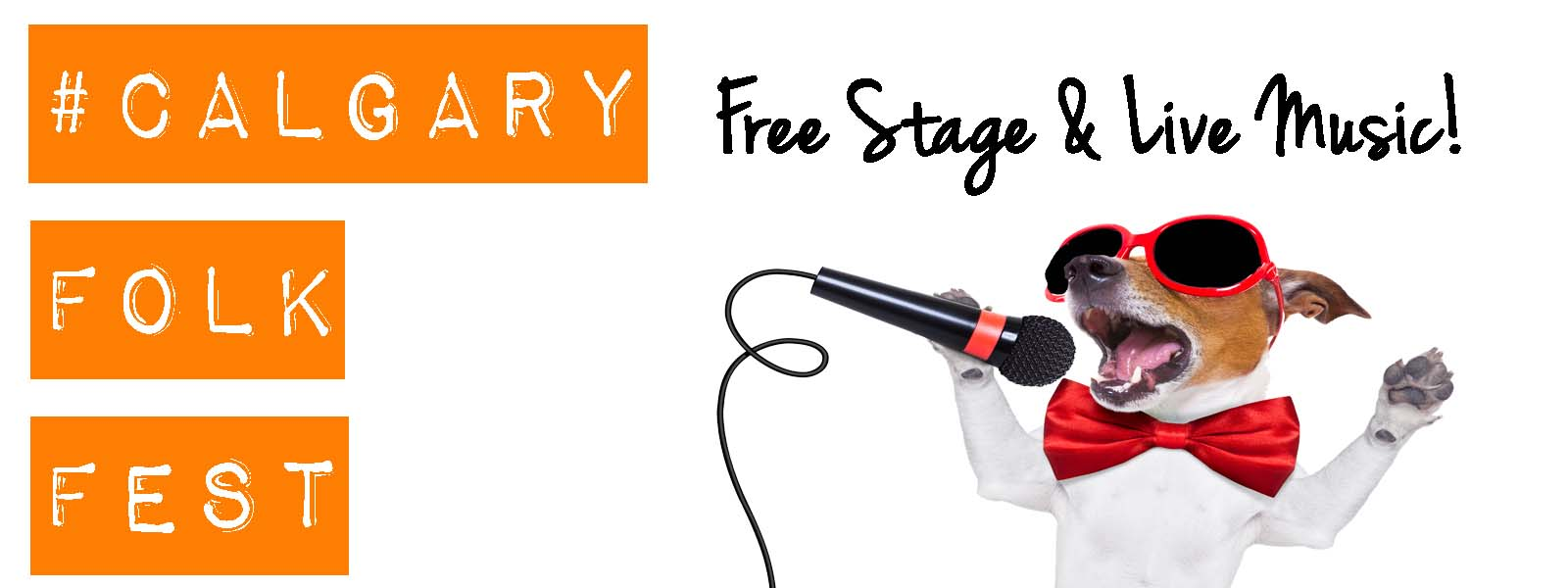 Listen to live music with your dog at the Folk Festival Free stage!