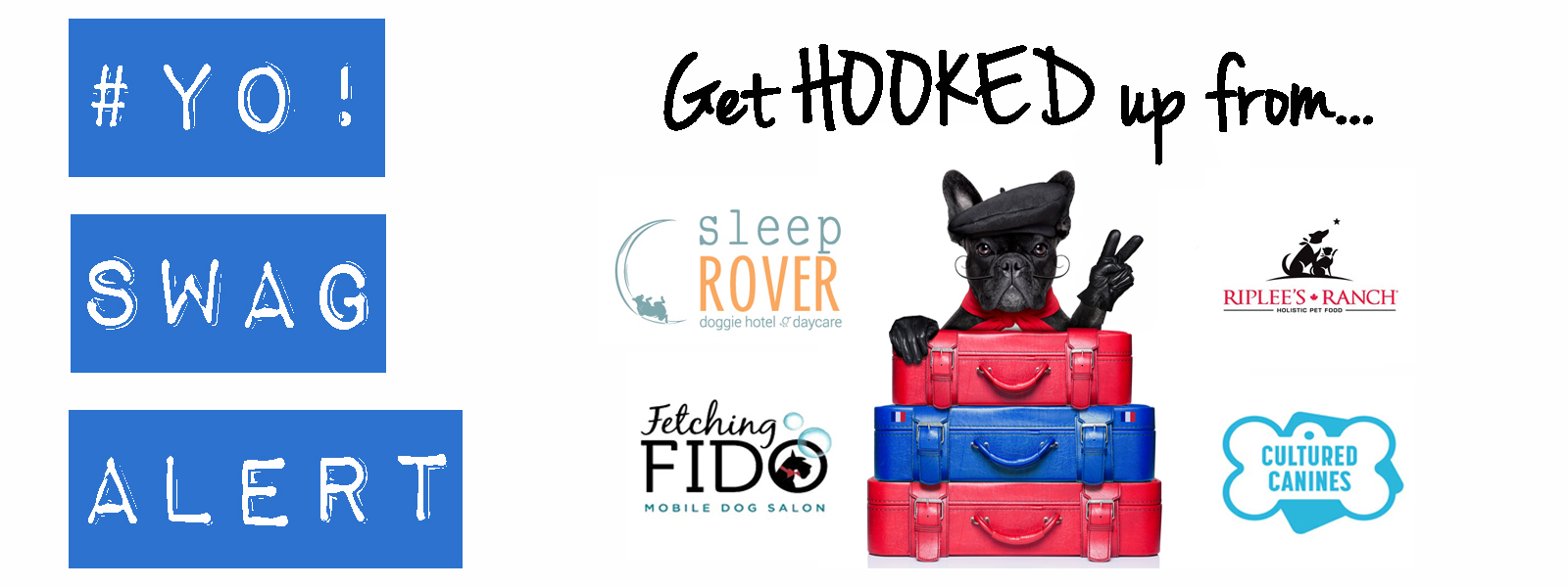 Swag bag?!The way things are going you'll need a suitcase!Be sure to get to Pet-A-Palooza early this year on Sat & Sun and get hook up with awesome swag from Sleep Rover, Cultured Canines and Fetching Fido.