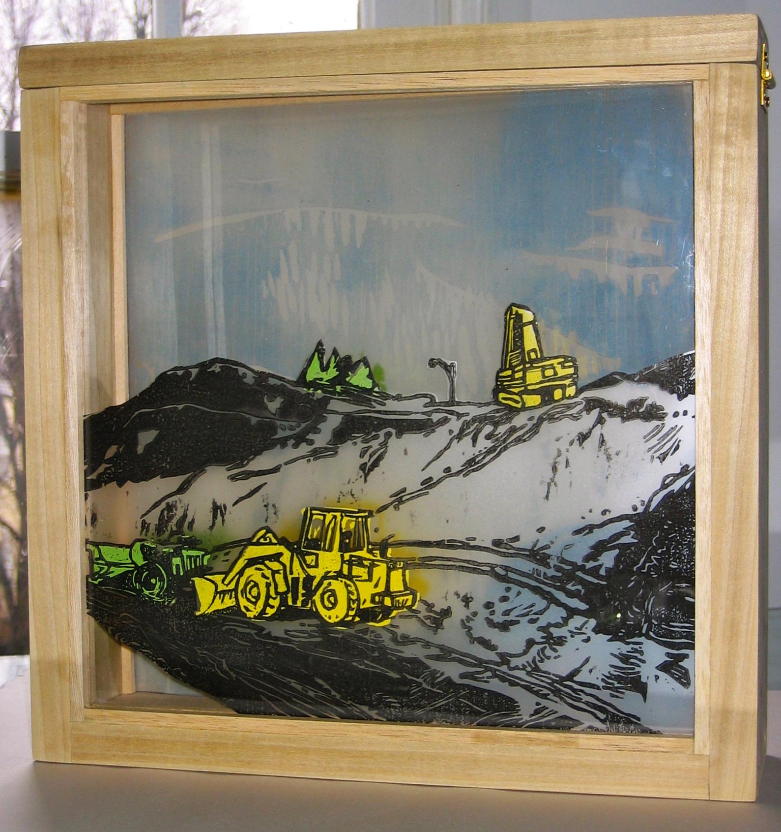 Bulldozers in Snow II