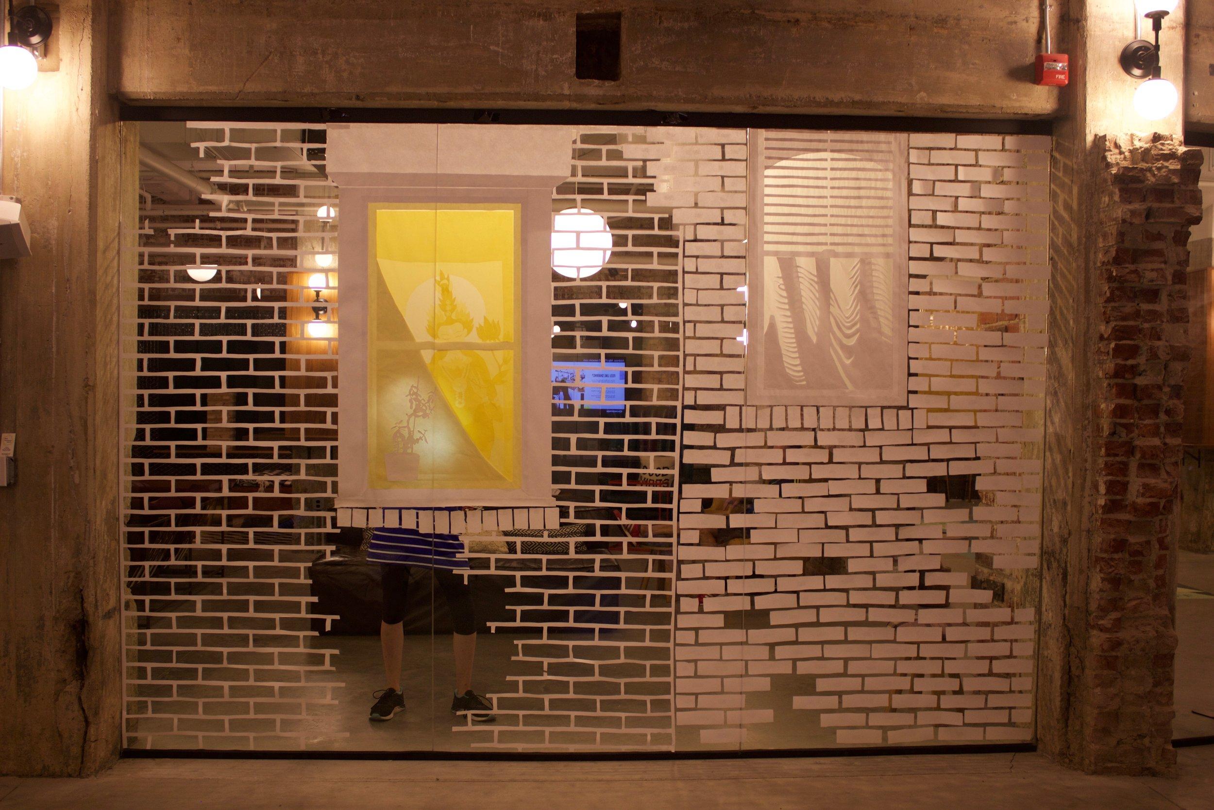 Girard Avenue Windows,  2017, at WeWork - Northern Liberties, Philadelphia.