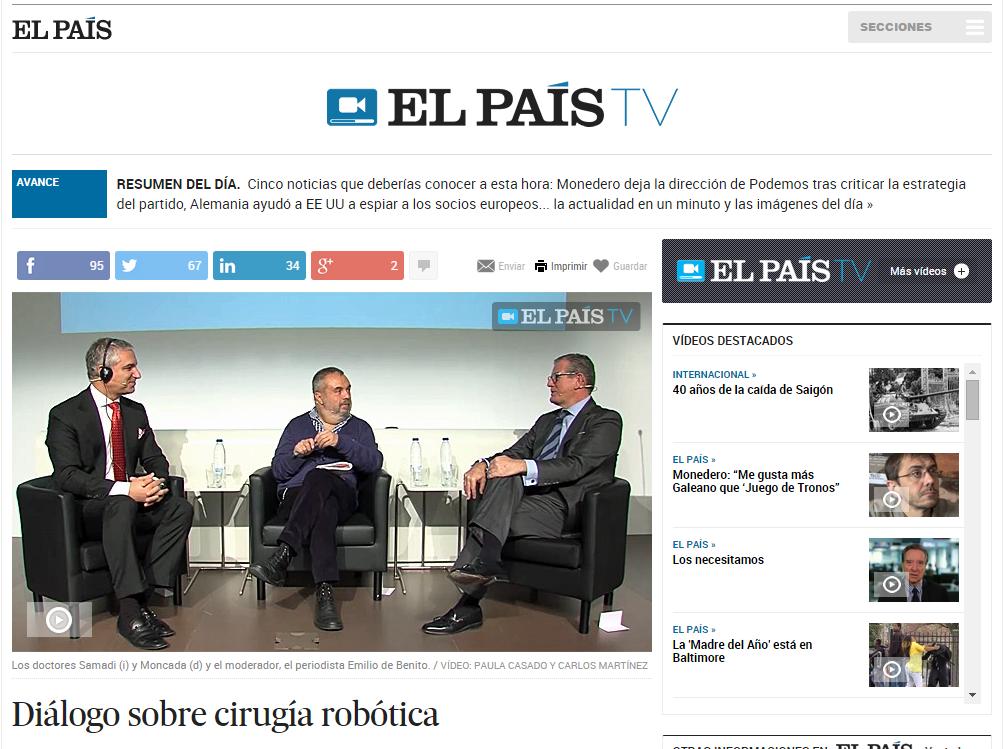 Dr. David Samadi Interviewed by Spanish Newspaper EL PAÍS