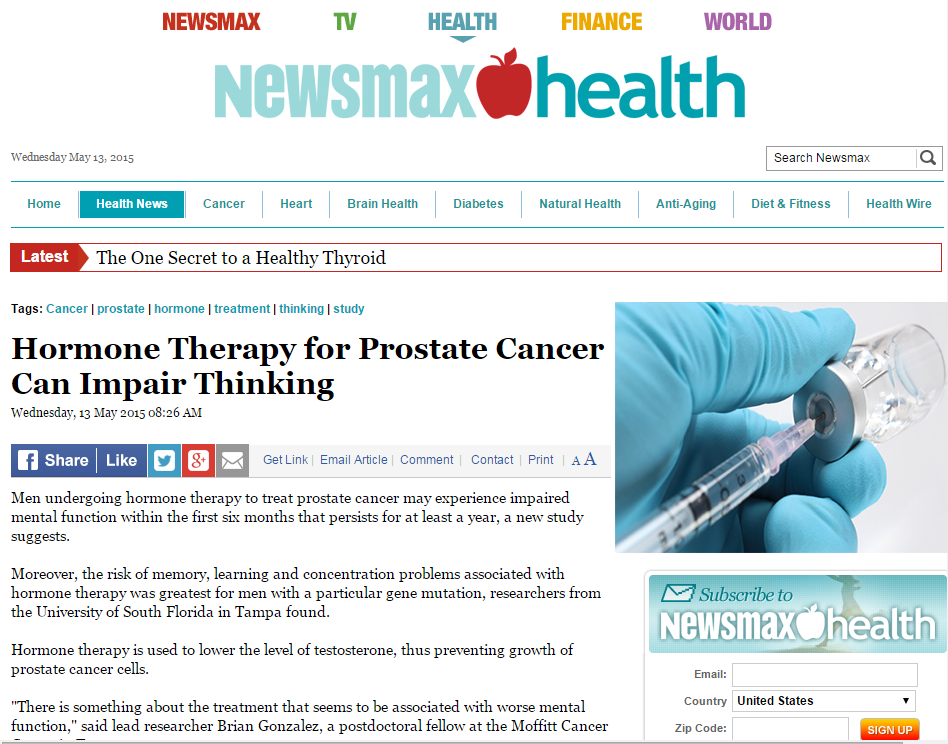 Newsmax Health: Hormone Therapy for Prostate Therapy, Dr. David Samadi