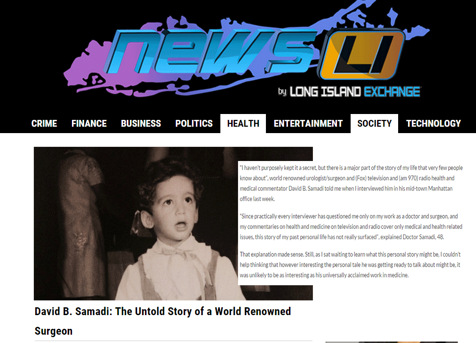 News Long Island: Untold Story of Dr. David Samadi