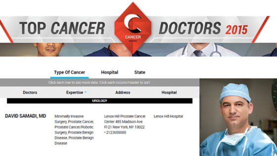 Newsweek: Top Cancer Doctors featuring Dr. David Samadi
