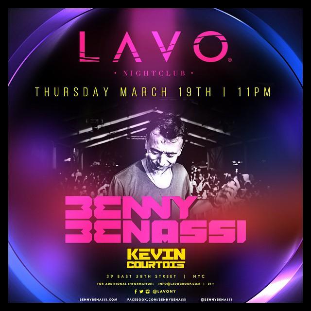 Kevin Courtois LAVO Nightclub NYC Benny Benassi
