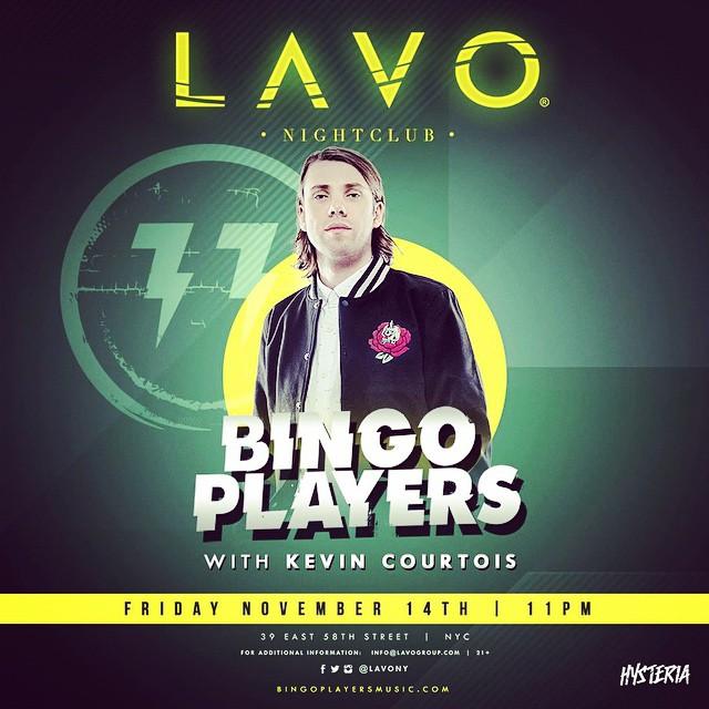 Kevin Courtois Bingo Players LAVO Nightclub NYC