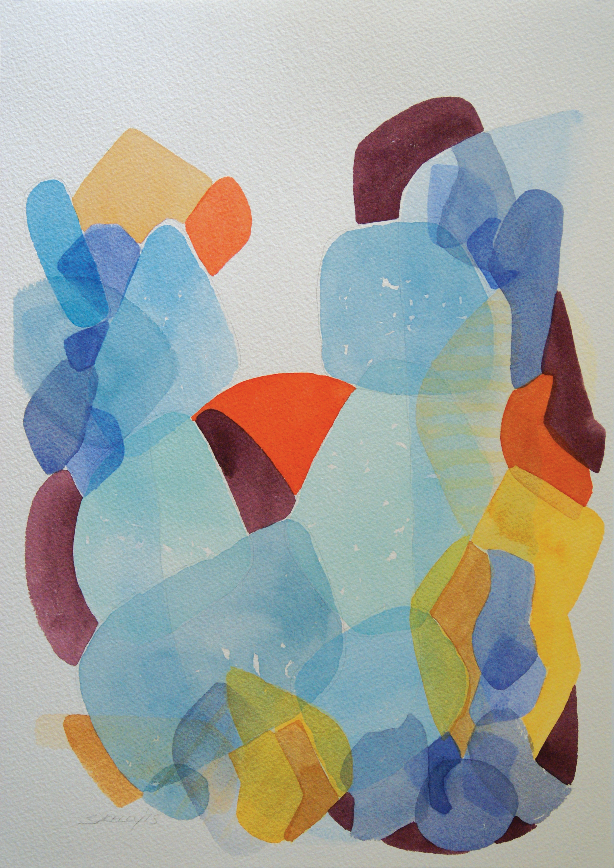 'Lift 2' A3 Watercolour painting on Arches Paper 300gsm  SOLD
