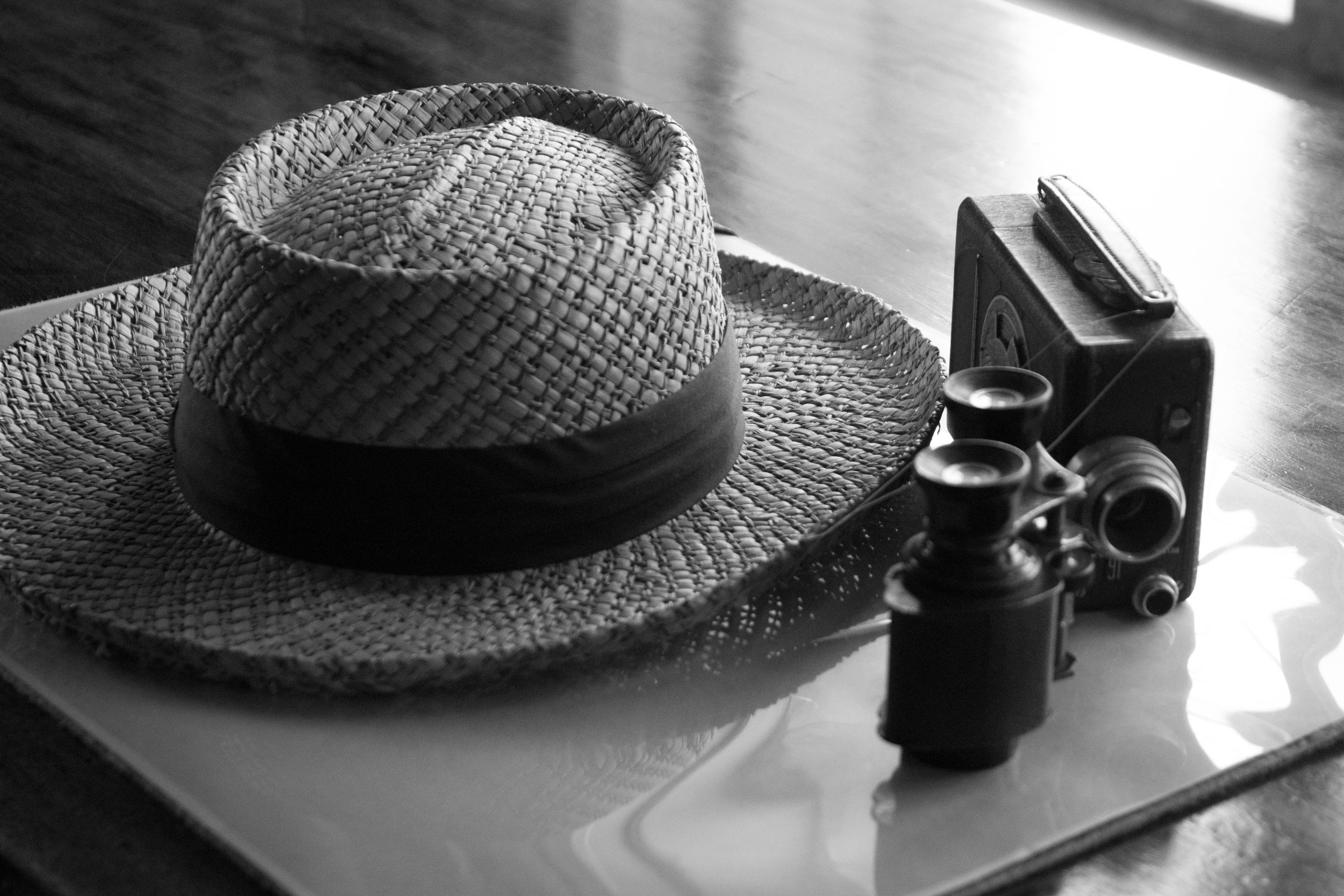 Straw Hat - This is a still life I did on my Nikon D5500. Edited in Adobe Lightroom.