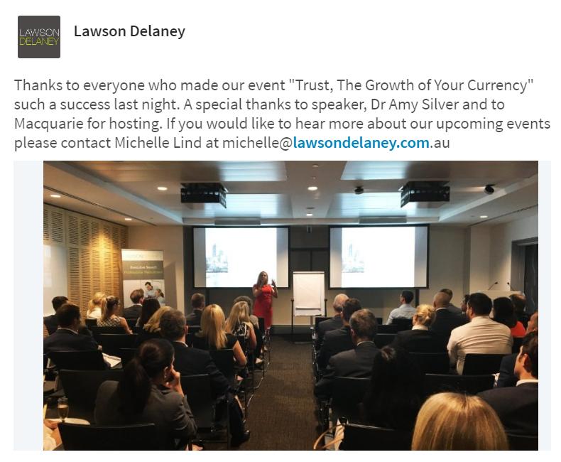 Lawson Delaney event - Trust