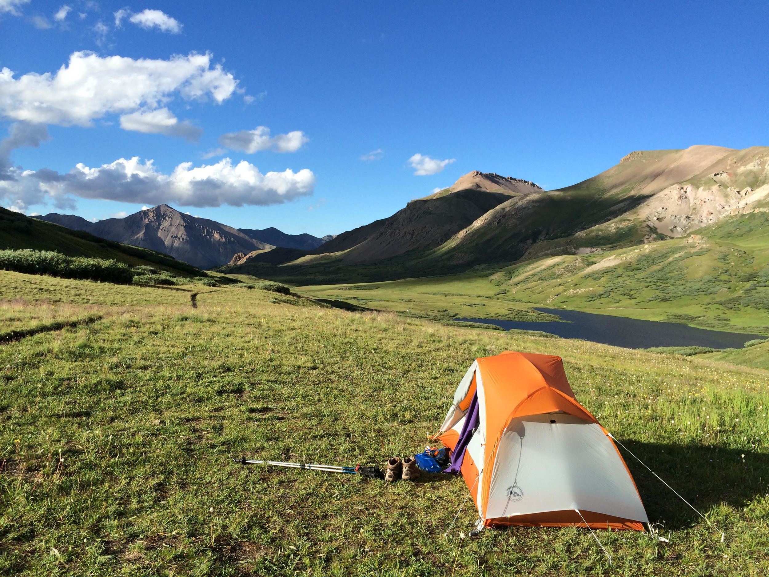 Campsite near Cataract Lake. PHOTO BY WILLOW BELDEN
