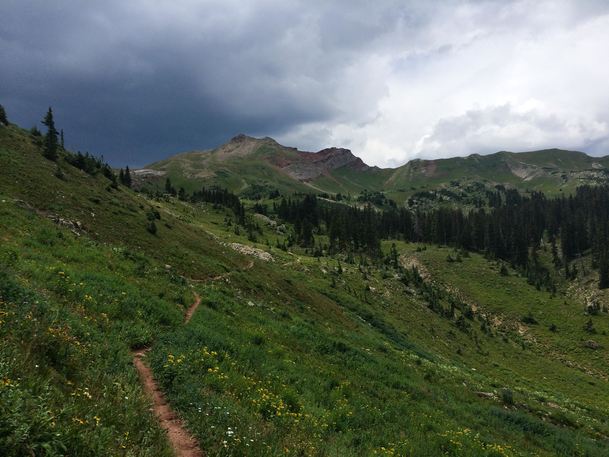 Storm clouds brewing over Black Hawk Pass. PHOTO BY WILLOW BELDEN