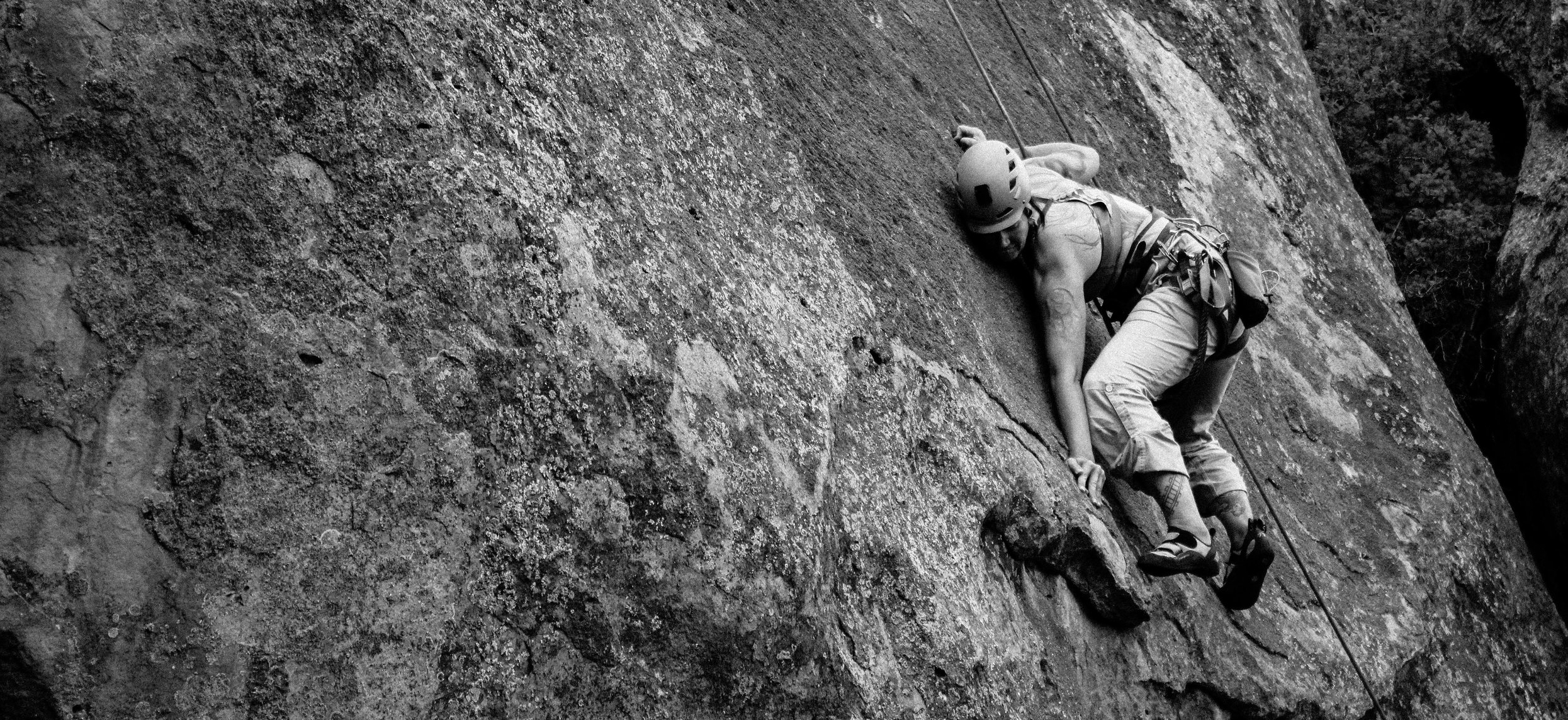 Stacey McKenna climbs 'Drugs are Nice,' a 5.10a route at Penitente canyon, colorado. (Photo courtesy Stacey McKenna)