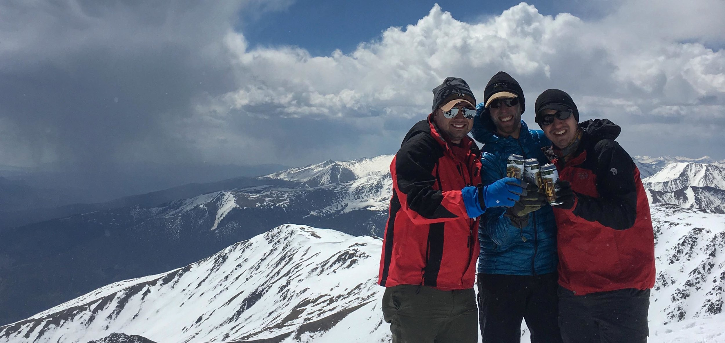 Ryan Haupt and friends at the summit of Mt. Elbert. (photo courtesy Ryan Haupt)
