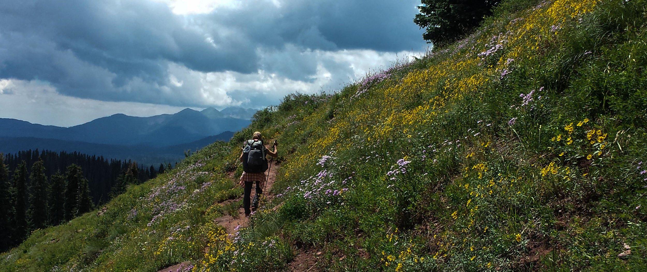 Becky Jensen on the Colorado Trail. (Photo courtesy Becky Jensen)