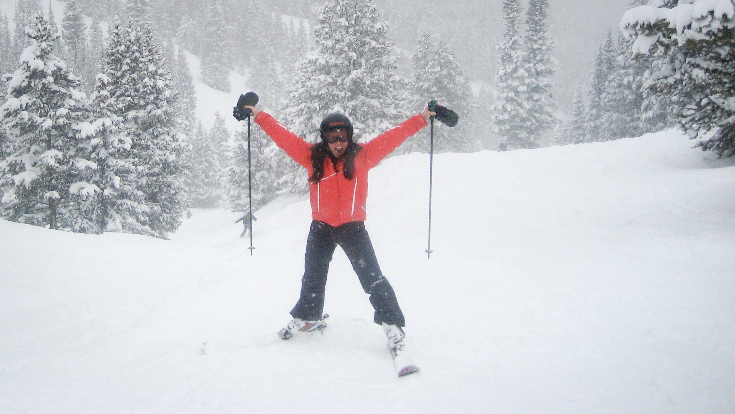 Susan Shain enjoys a powder day in Colorado. (Photo courtesy Susan Shain)