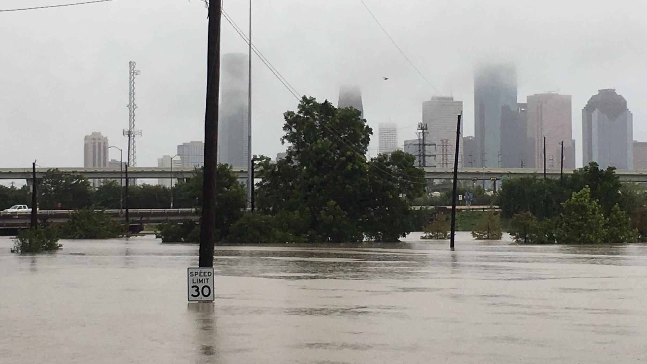Houston, TX during Hurricane Harvey. (Photo by Cristina Mandujano)
