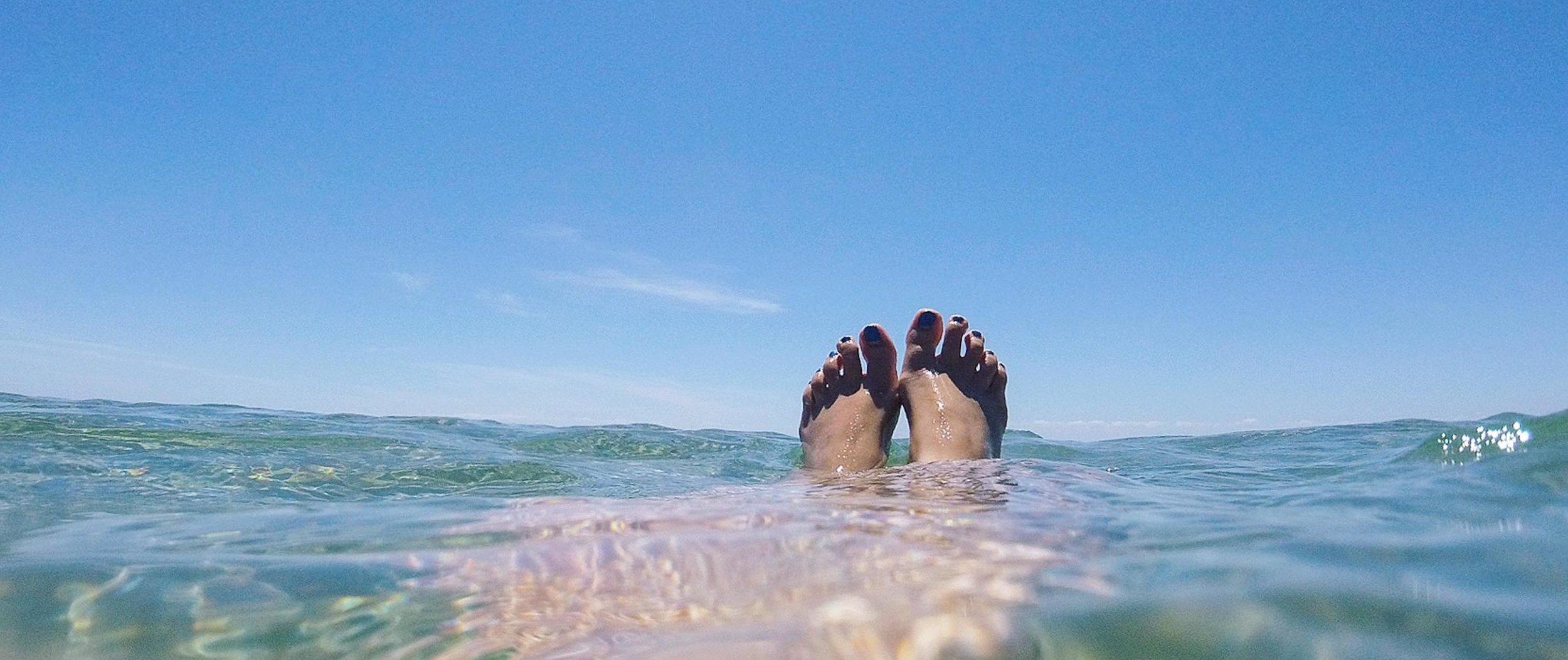 The beach near Tess Ley's home in Melbourne, Australia (Photo courtesy Tess Ley)