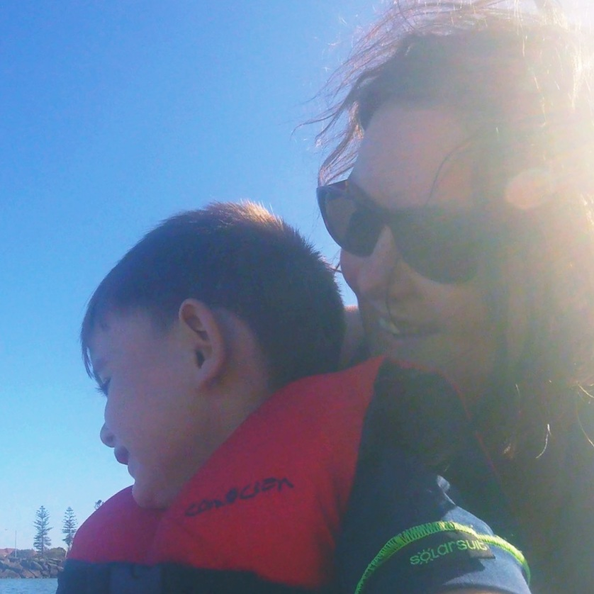 Tess Ley and her son (Photo courtesy Tess Ley)