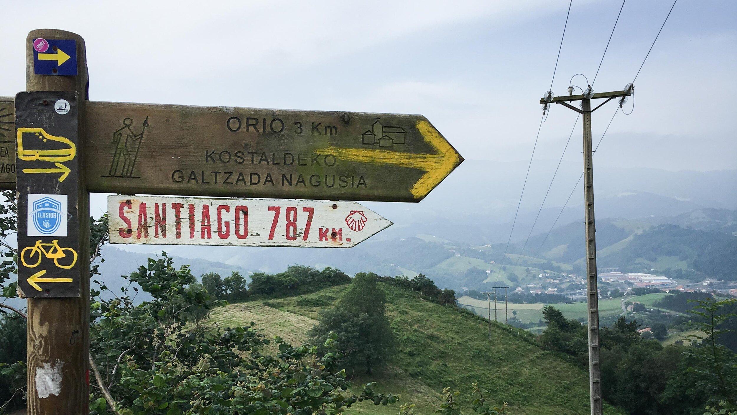 Yellow arrows guide pilgrims to their destination on the Camino de Santiago. (Photo by Fran Turauskis)