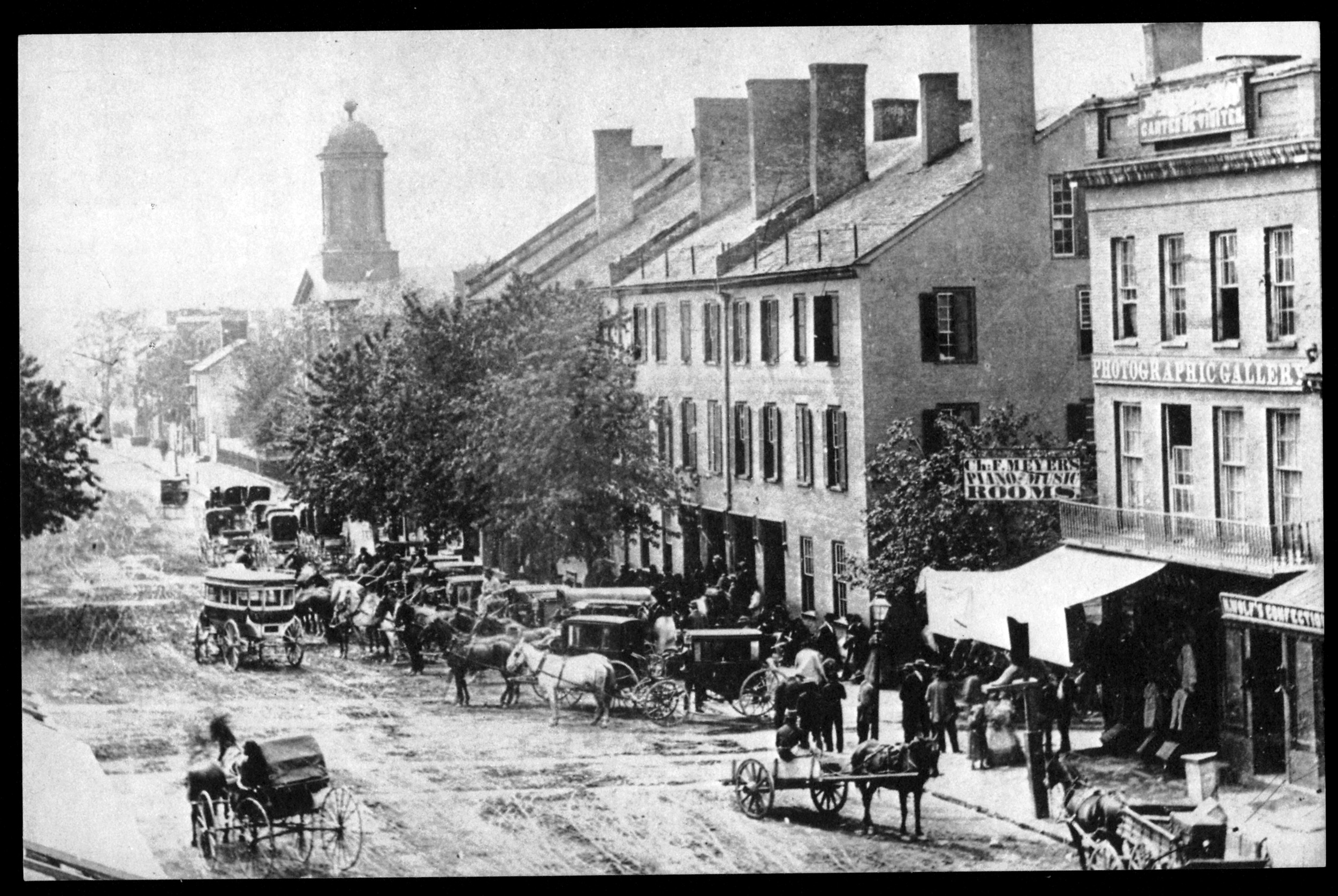 Intersection of North Limestone and Main Streets,1840's