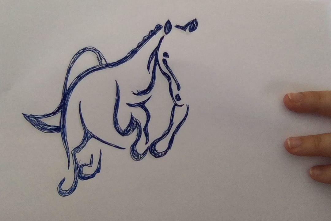 THE DESIGNERS FINAL SKETCH OF A HORSE