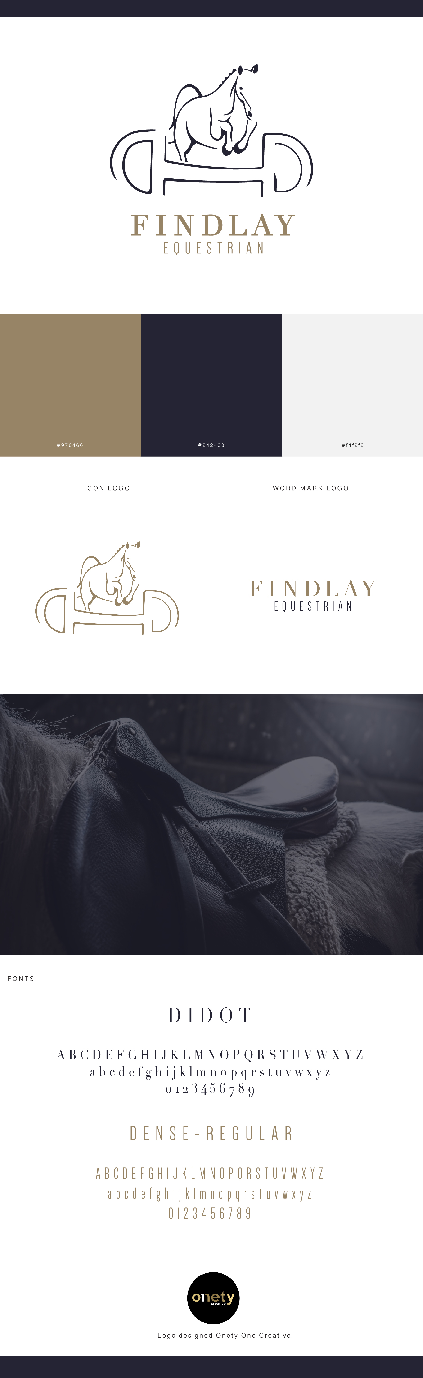 Style guide for Findlay Equestrian