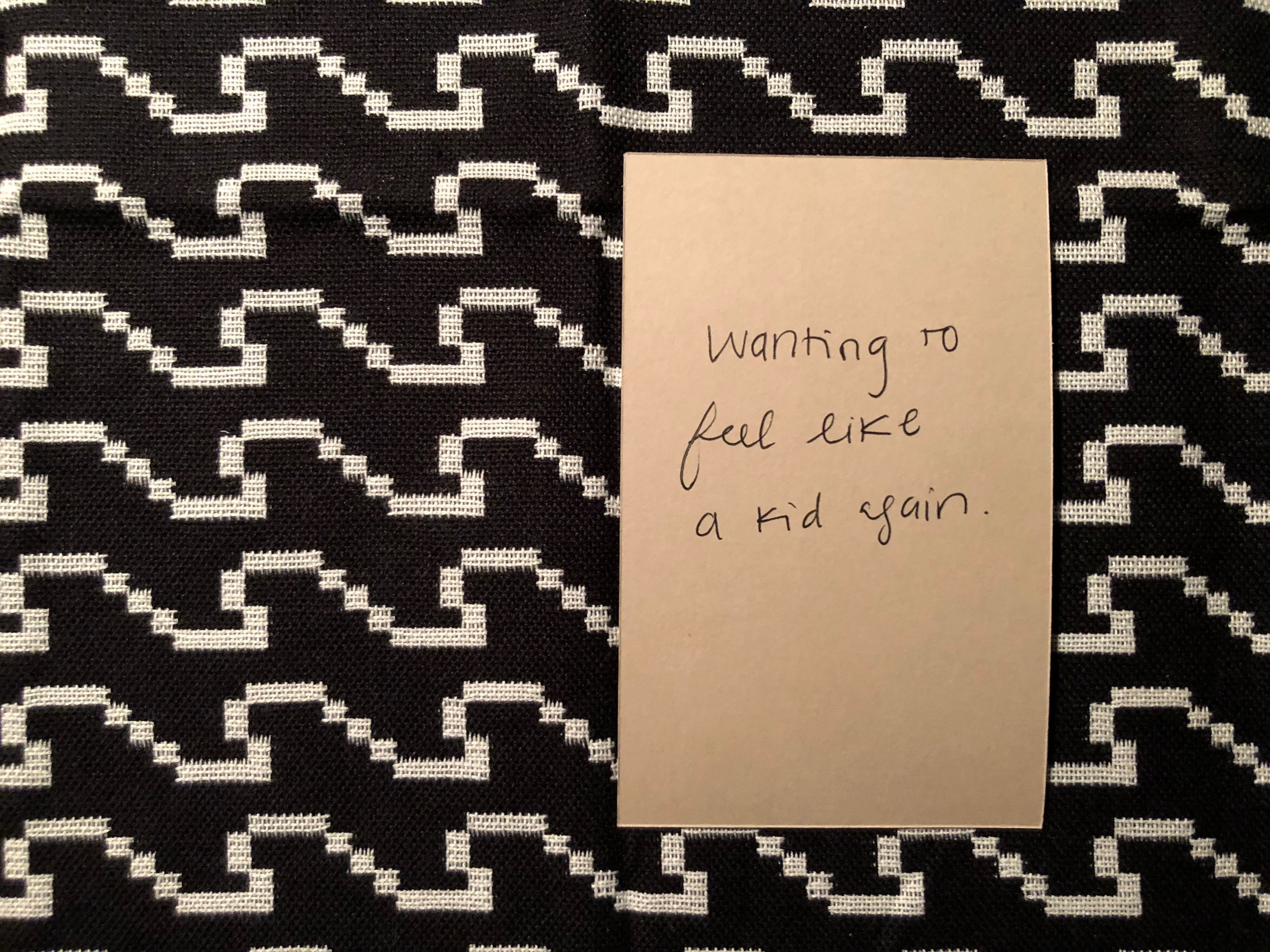 Write down your interpretation of its meaning on an empty card. -
