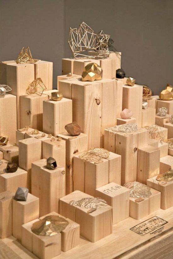 geometric jewelry display