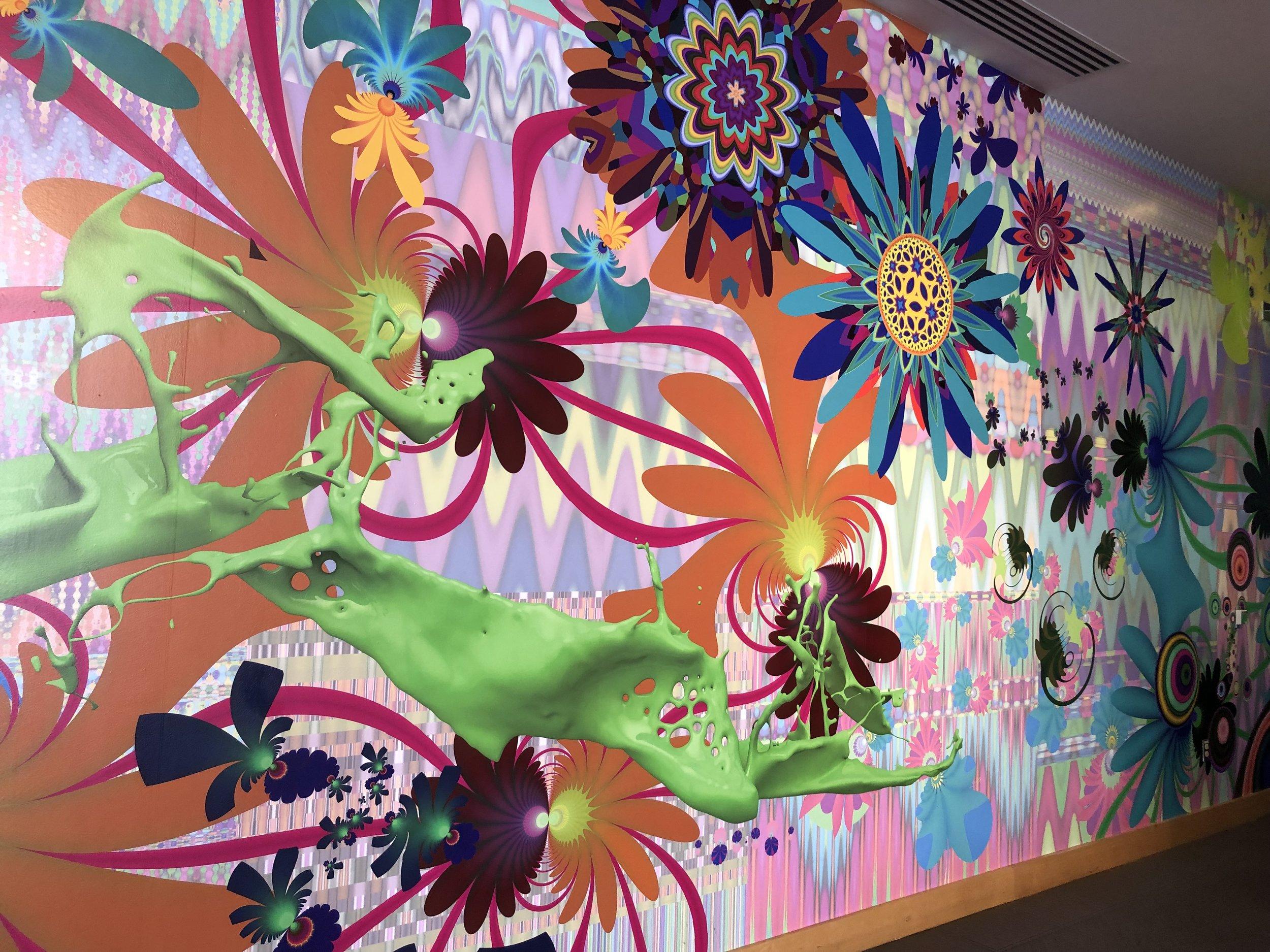 Boca raton museumof art - entry mural by Jose Alvarez (D.O.P.A.)