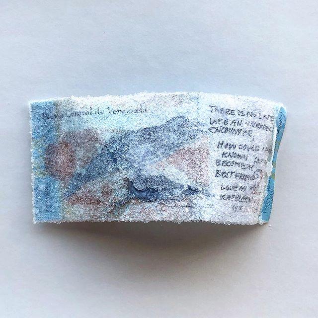 🐬 a love letter to someone you haven't met / una carta de amor para alguien que no conoces . . . #crystallized #currency #love #letter #venezuela #bolivares #artifact #experimental #participatoryart #writing #art #making