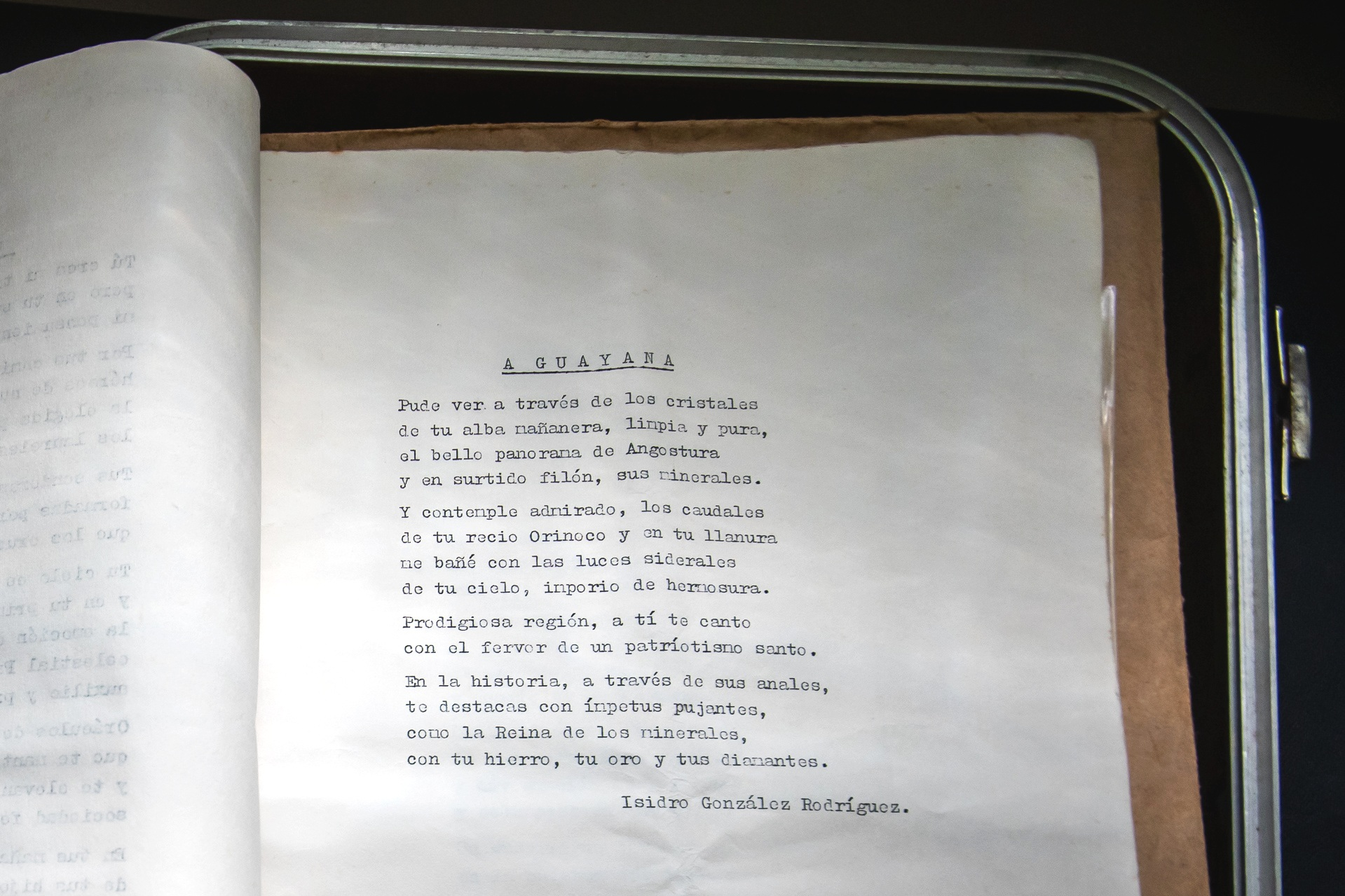 """Figure 3 - """"A Guayana"""" written by Isidro González Rodríguez"""