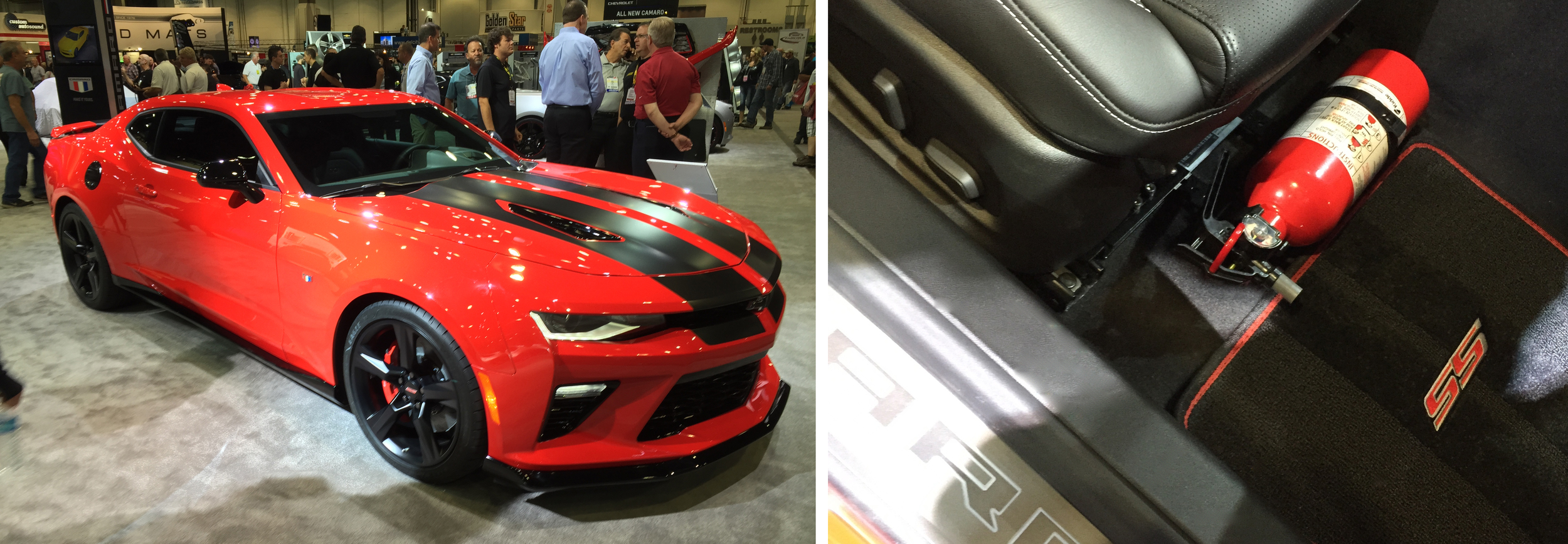 2016 Camaro on Chevrolet booth at SEMA