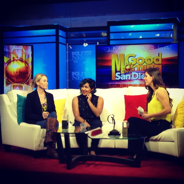 Lynette Padilla and I talking about women in the creative industry on Good Morning San Diego. (2014)