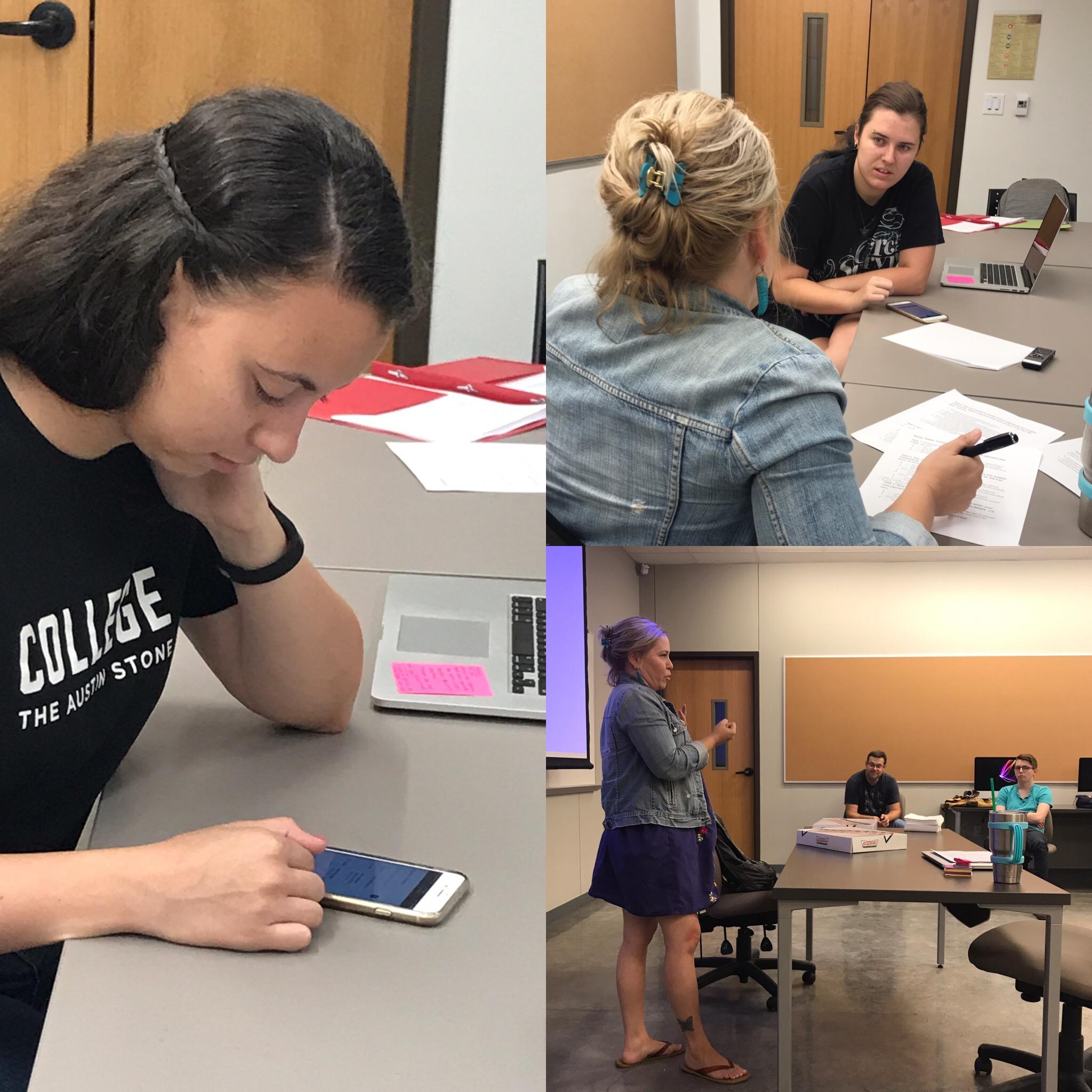 User testing at Texas State University