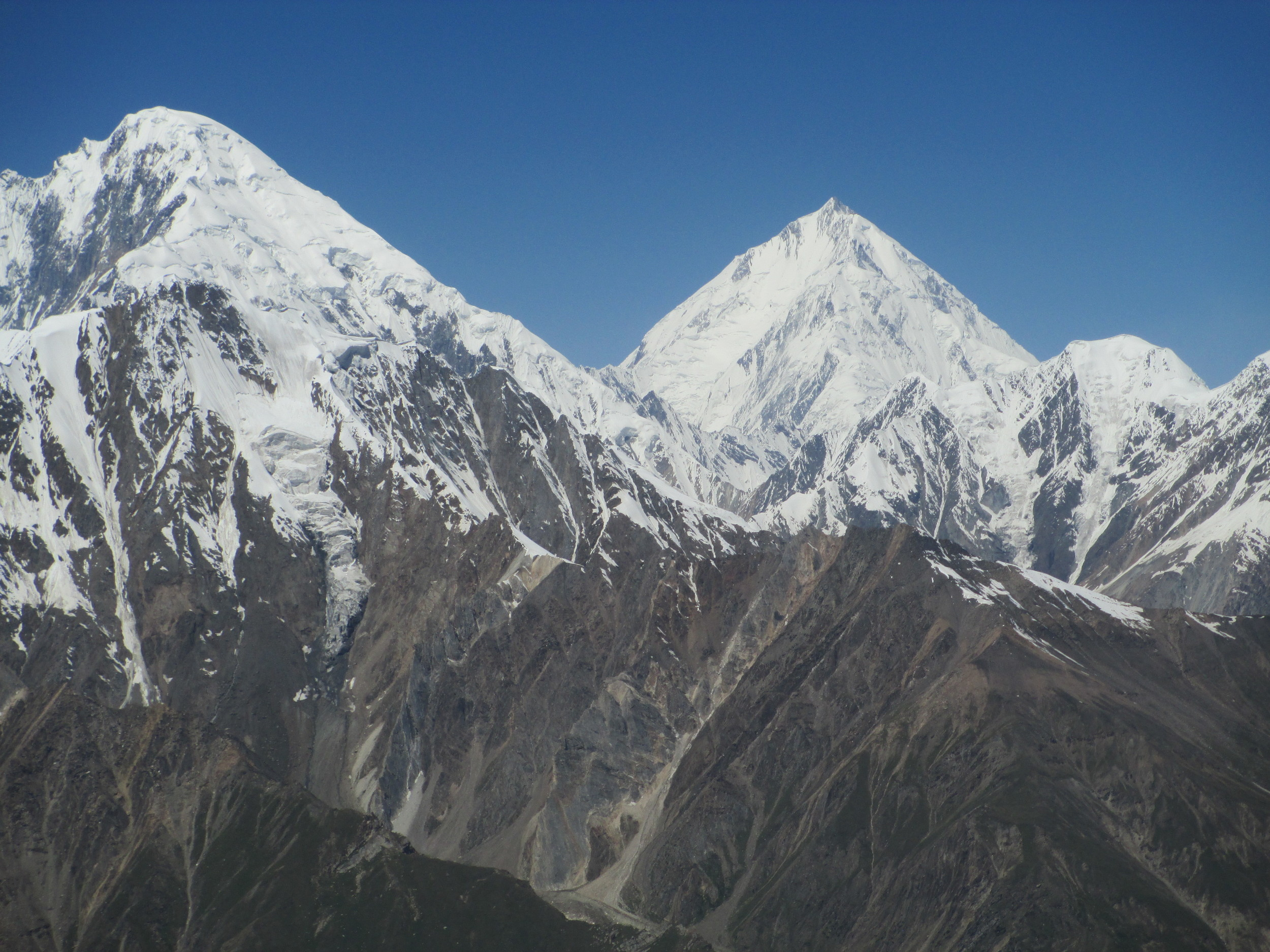 """Hopeless Hopeless"" Tilman muttered as he climbed the massive pyramid of Rakaposhi"