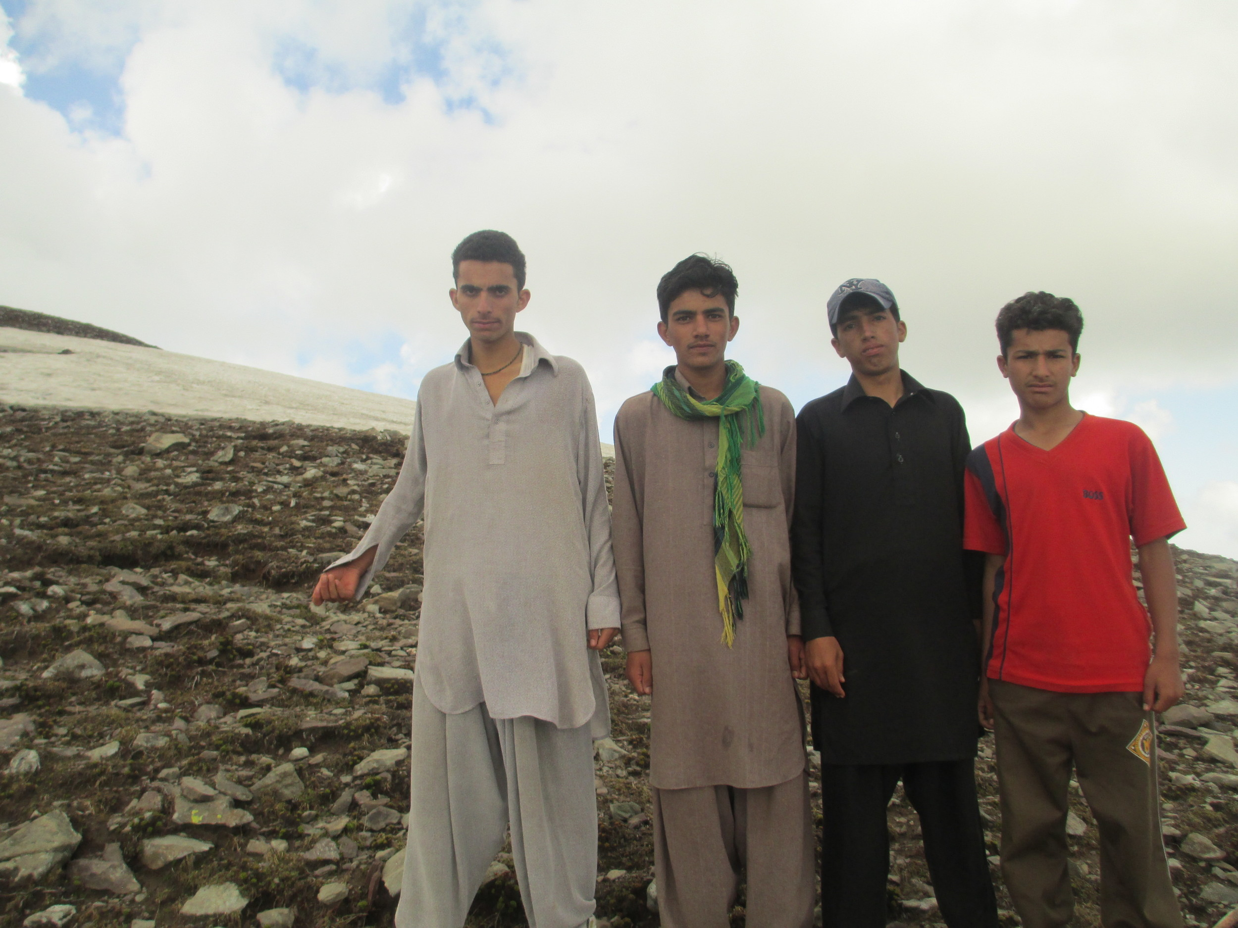 Kaghan valley 4 young boys I meet on Makra peak -3800m -out for a quick run!!