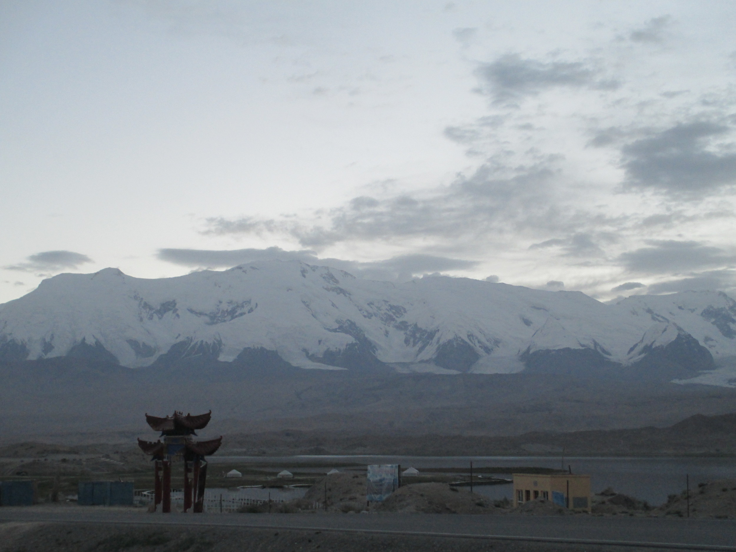 Kongur Tagh range at dawn -high point 7720m