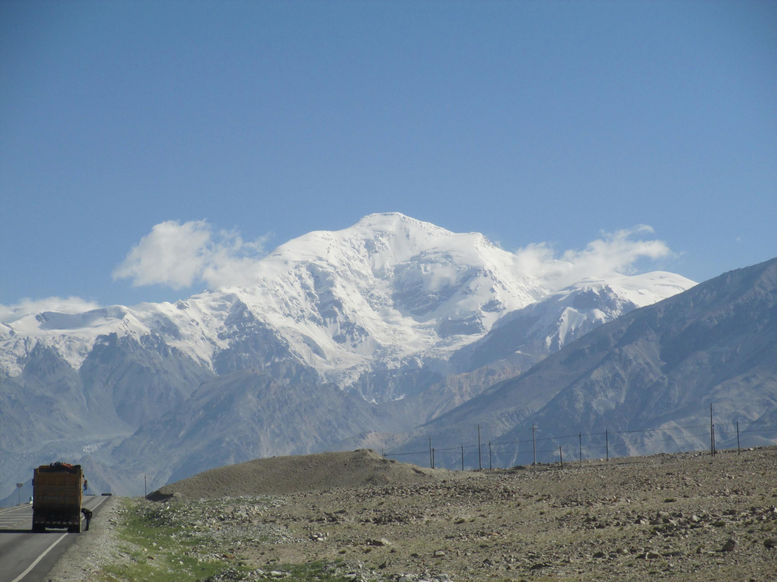 First view of Chakragil peak 6785m