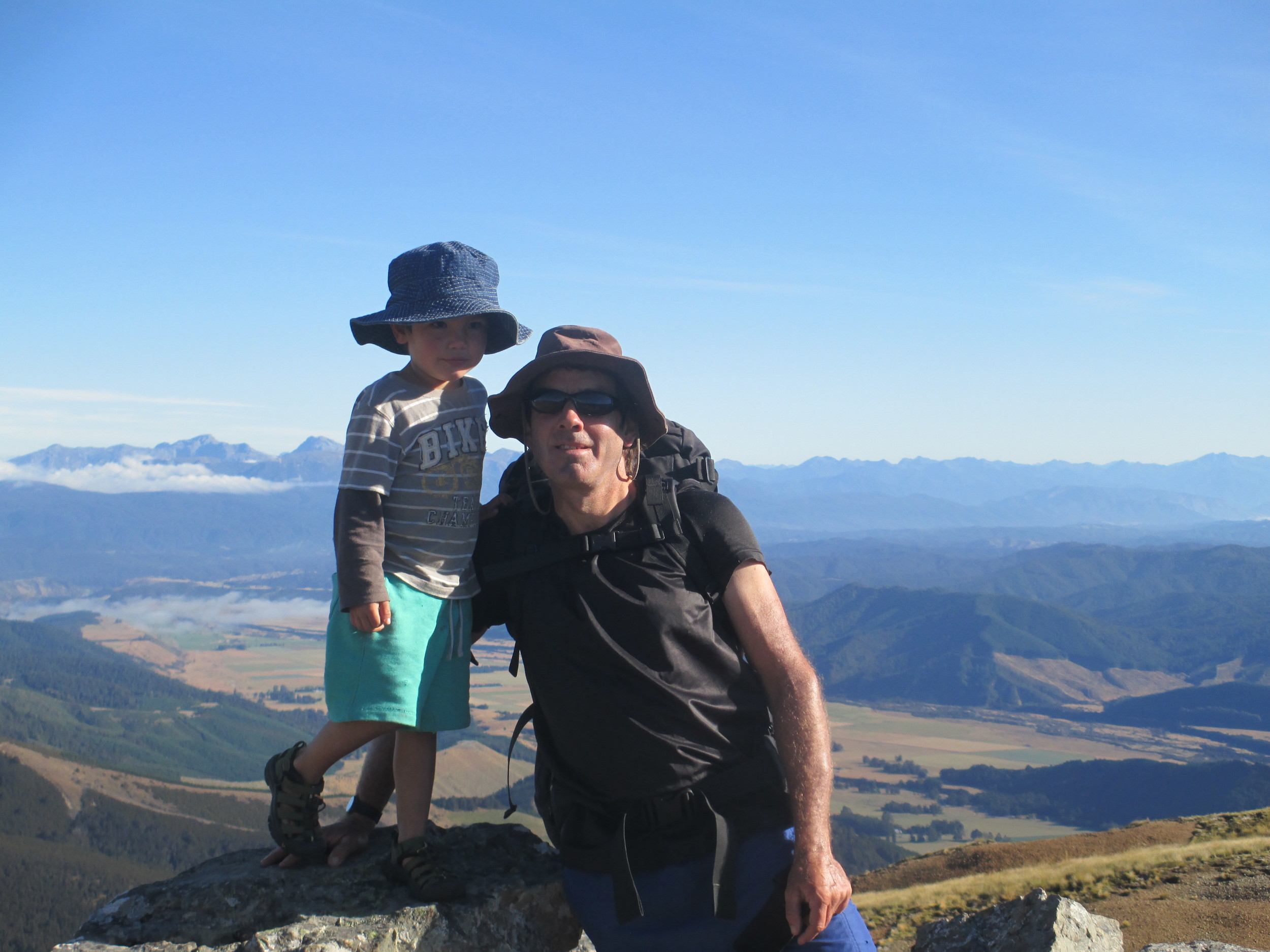 with a 3 year old Leo on Mt Robert
