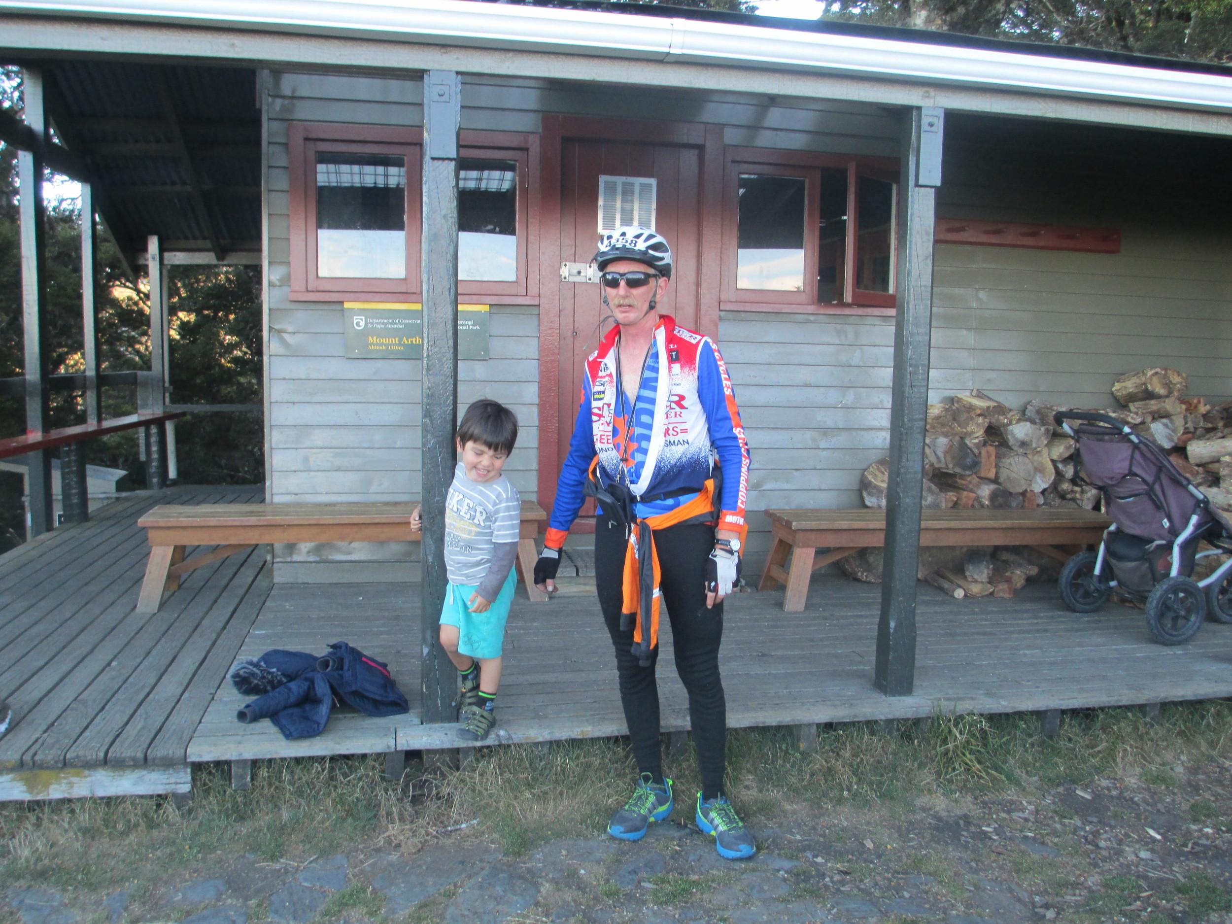 Bill and Leo at Mt Arthur Hut