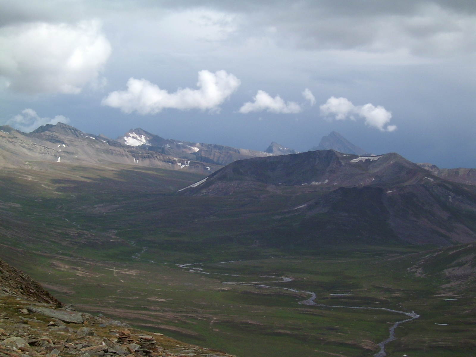 view from Top - Barbusar pass , Pakistan 4170m
