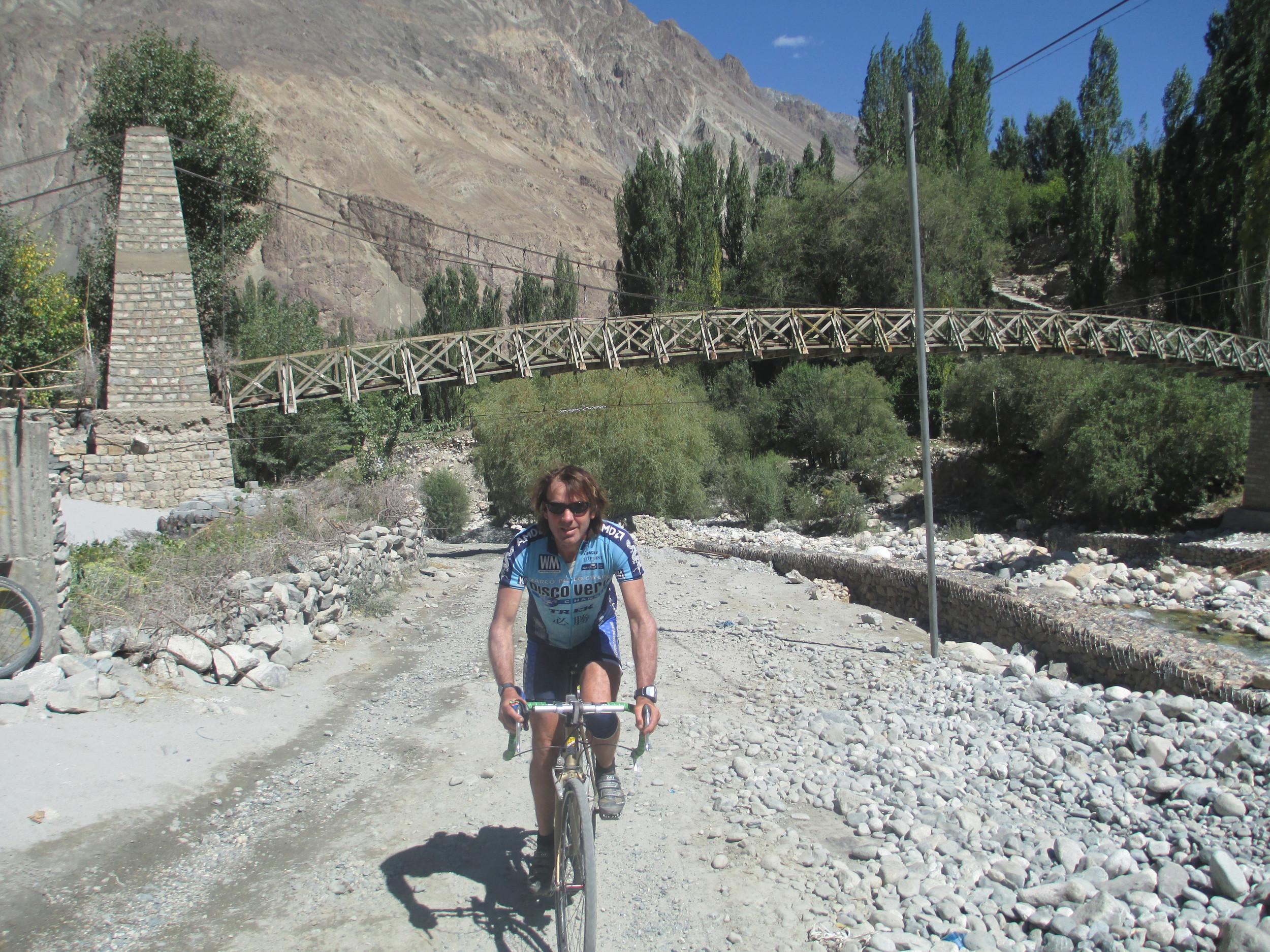 Turtok on the Shyok river , Nubra Valley