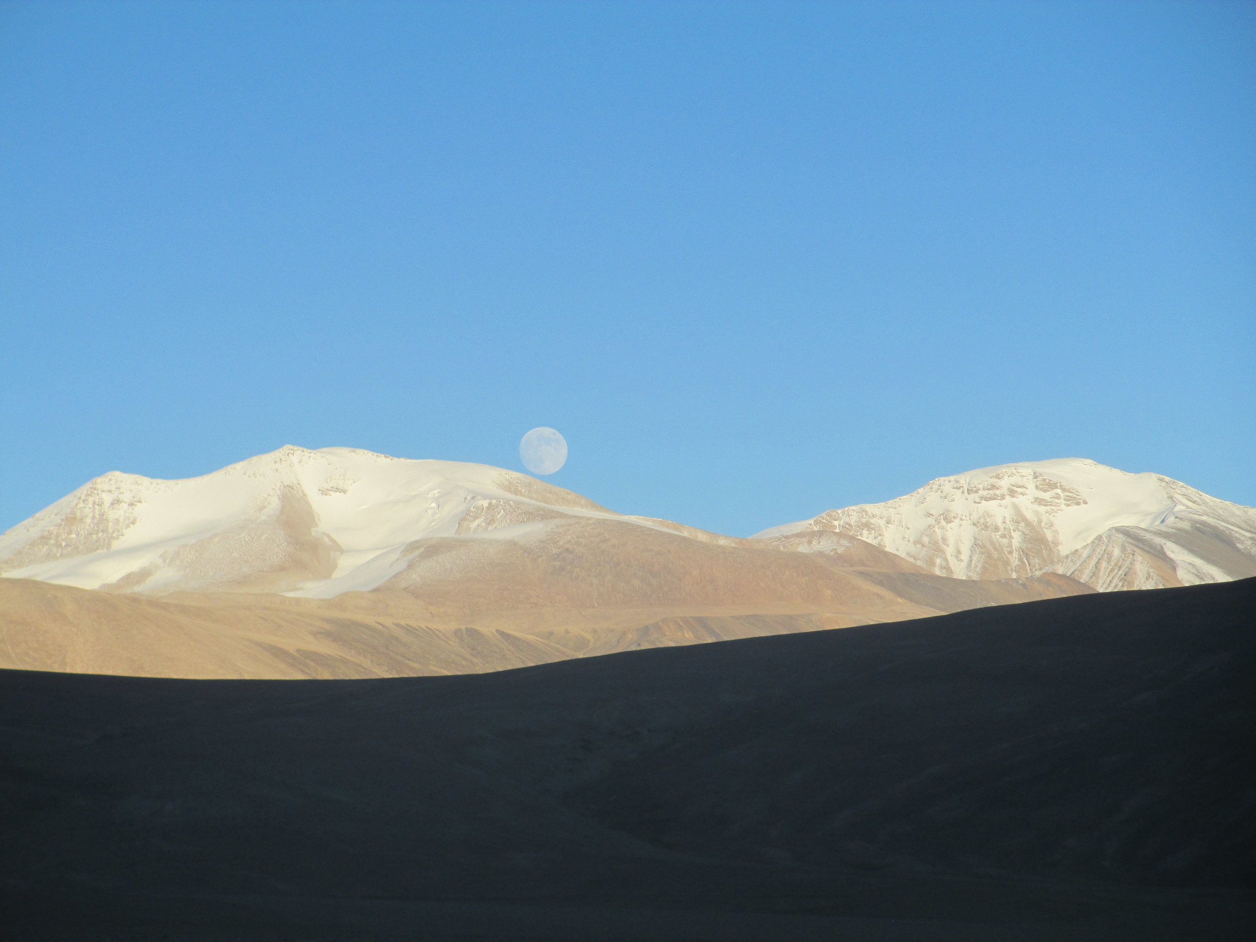 Chamser Kangri 6600m and Lungser Kangri 6670m above Tso moriri