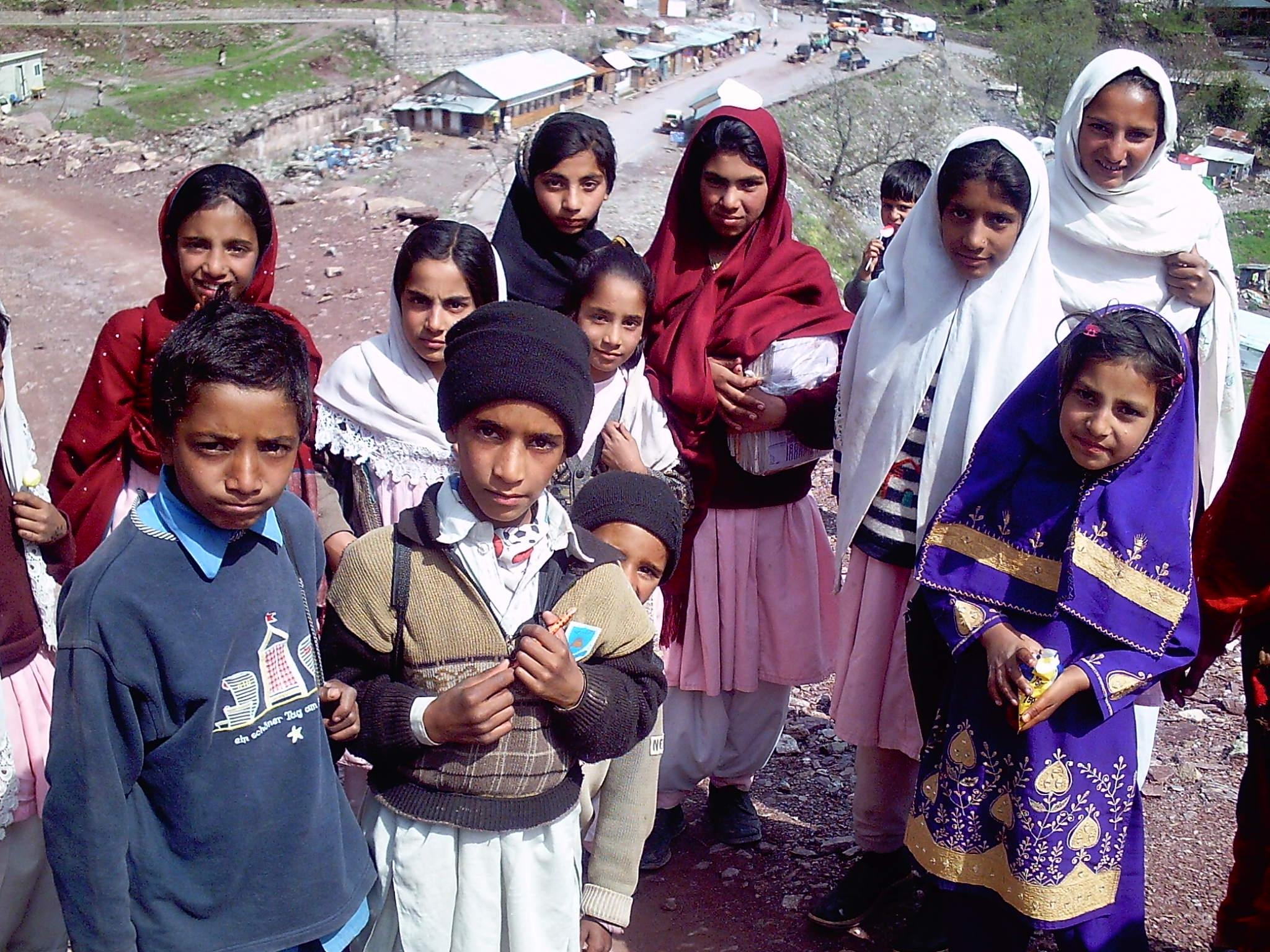 School Children,Kaghan valley, Pakistan