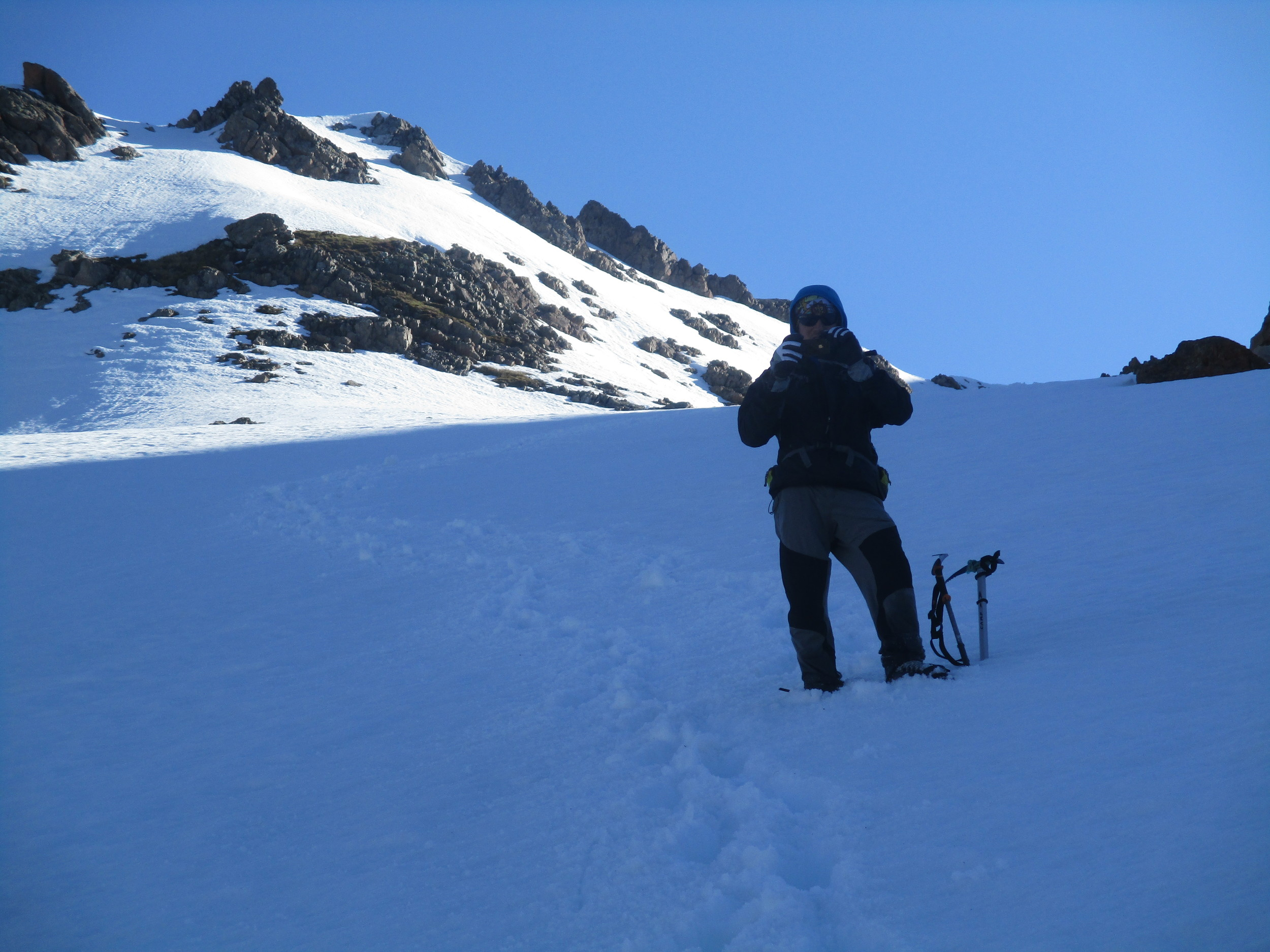 Sergio in the Nelson lakes , winter