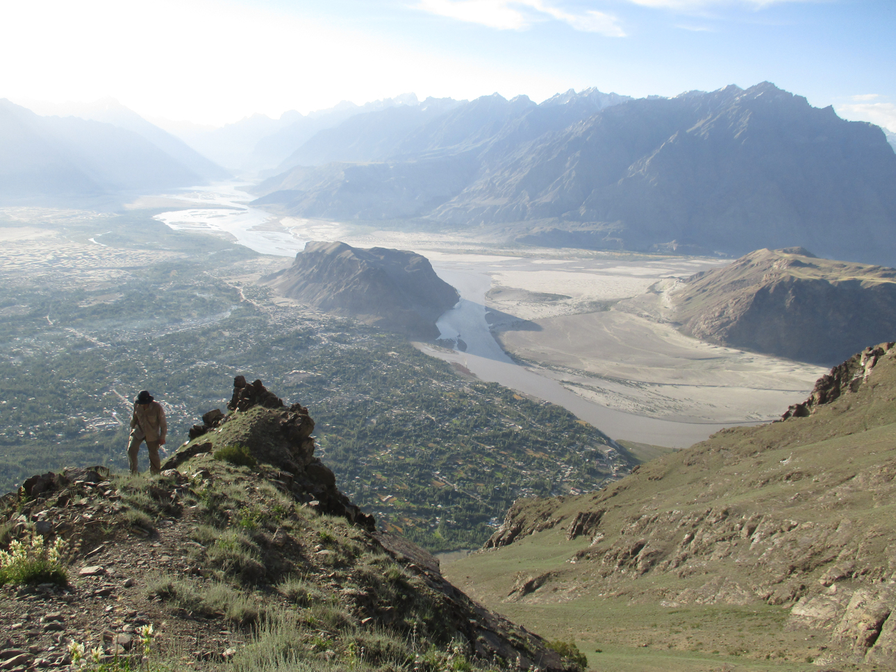Looking out over Skardu