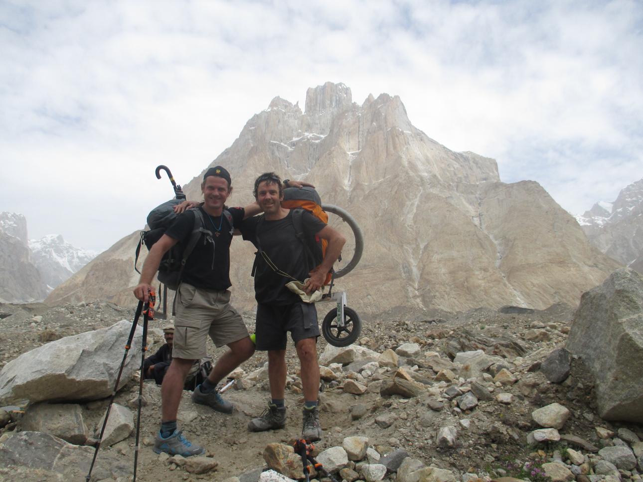 With ace Czech mountaineer Marek Holecek