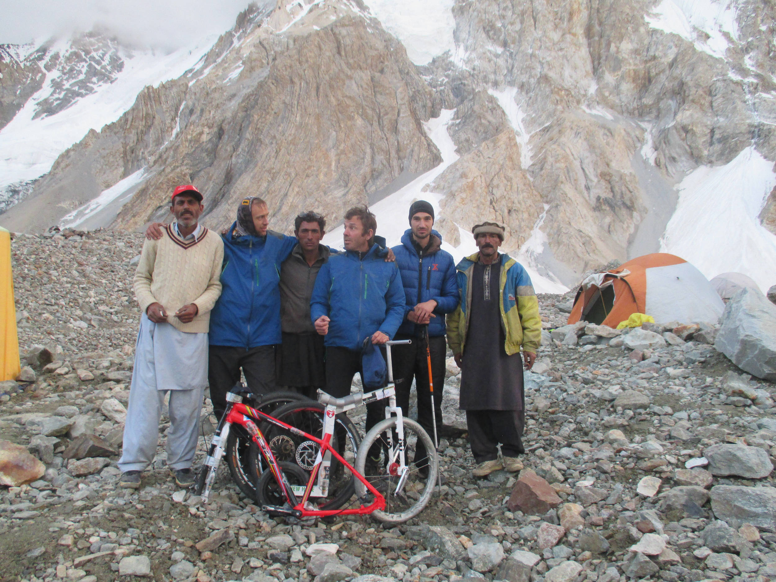 The Team at Broad Peak Base Camp